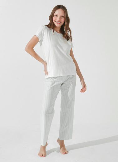 Penti Beyaz Chamomile Scent Pantolon Takımı Beyaz